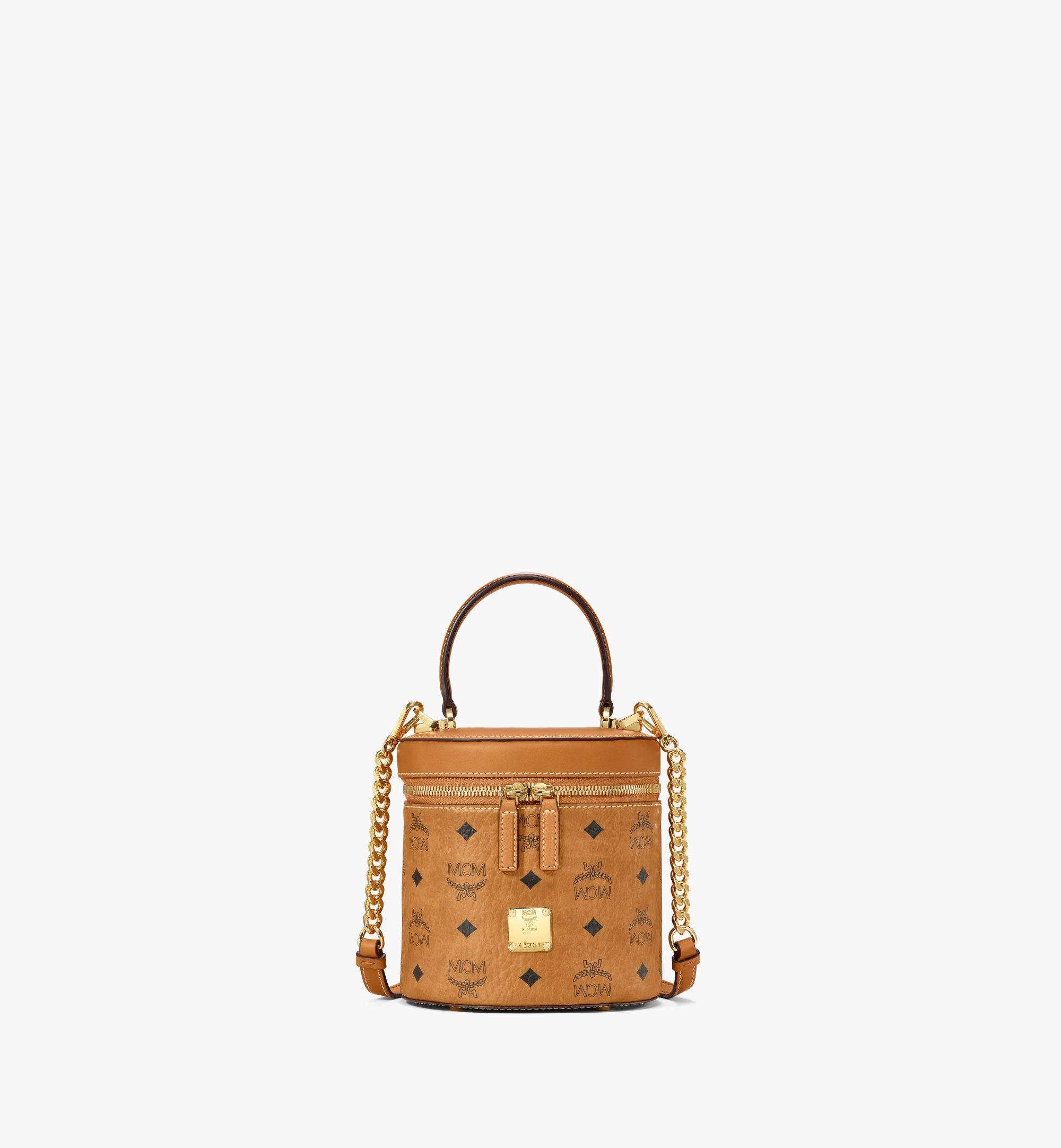 MCM Sac à bandoulière cylindrique en Visetos Cognac MWRAACG01CO001 Plus de photos 1