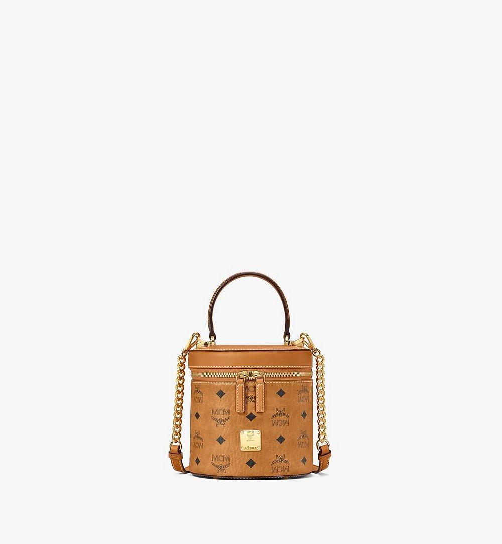 MCM Cylinder Crossbody in Visetos Cognac MWRAACG01CO001 Alternate View 1