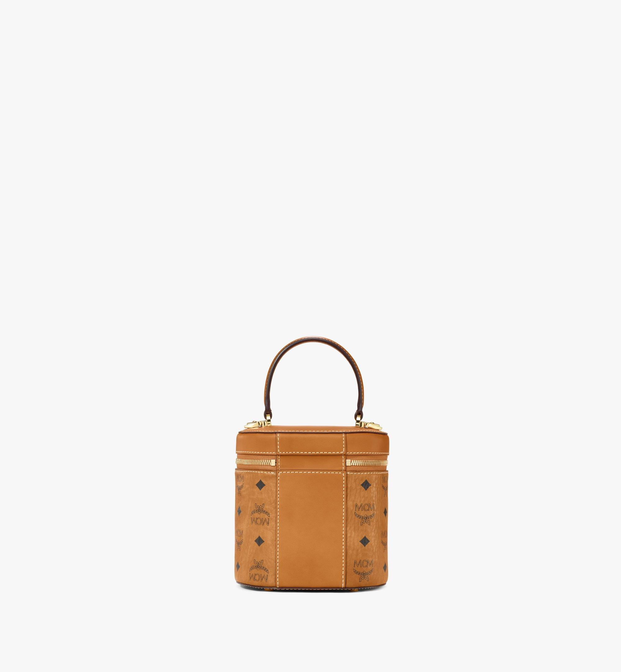 MCM Sac à bandoulière cylindrique en Visetos Cognac MWRAACG01CO001 Plus de photos 3