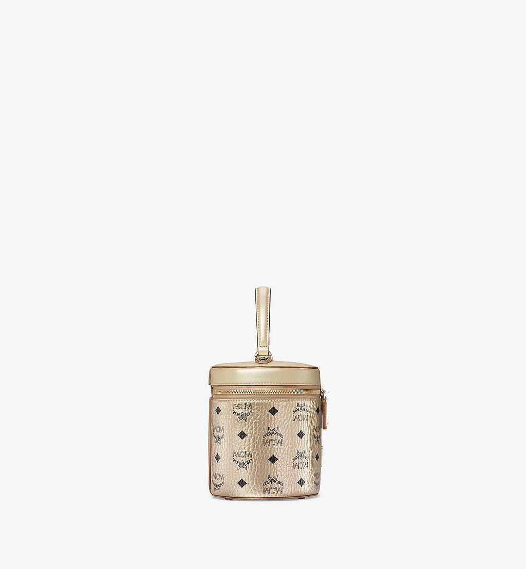 MCM Zylinderförmige Crossbody-Tasche in Visetos Gold MWRAACG02T1001 Noch mehr sehen 1