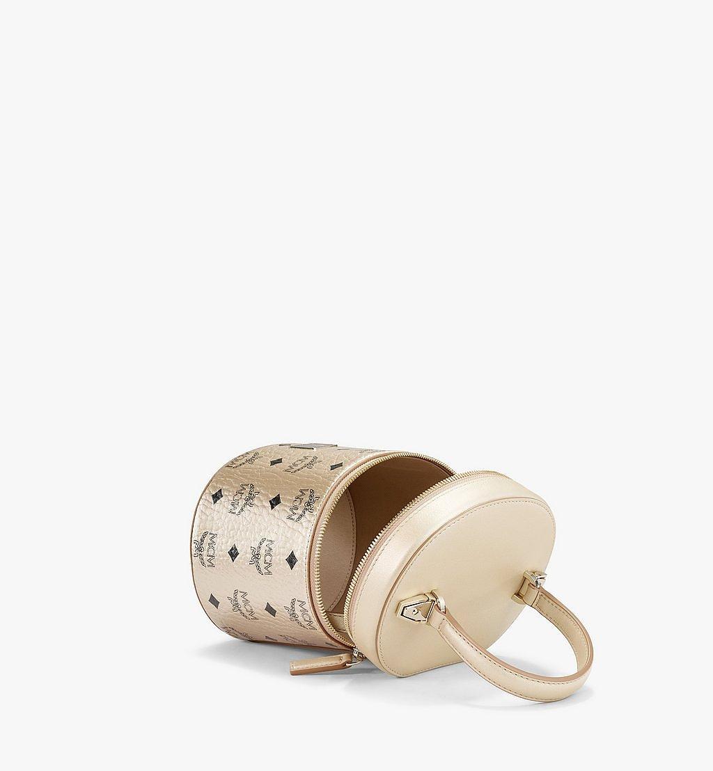 MCM Zylinderförmige Crossbody-Tasche in Visetos Gold MWRAACG02T1001 Noch mehr sehen 2