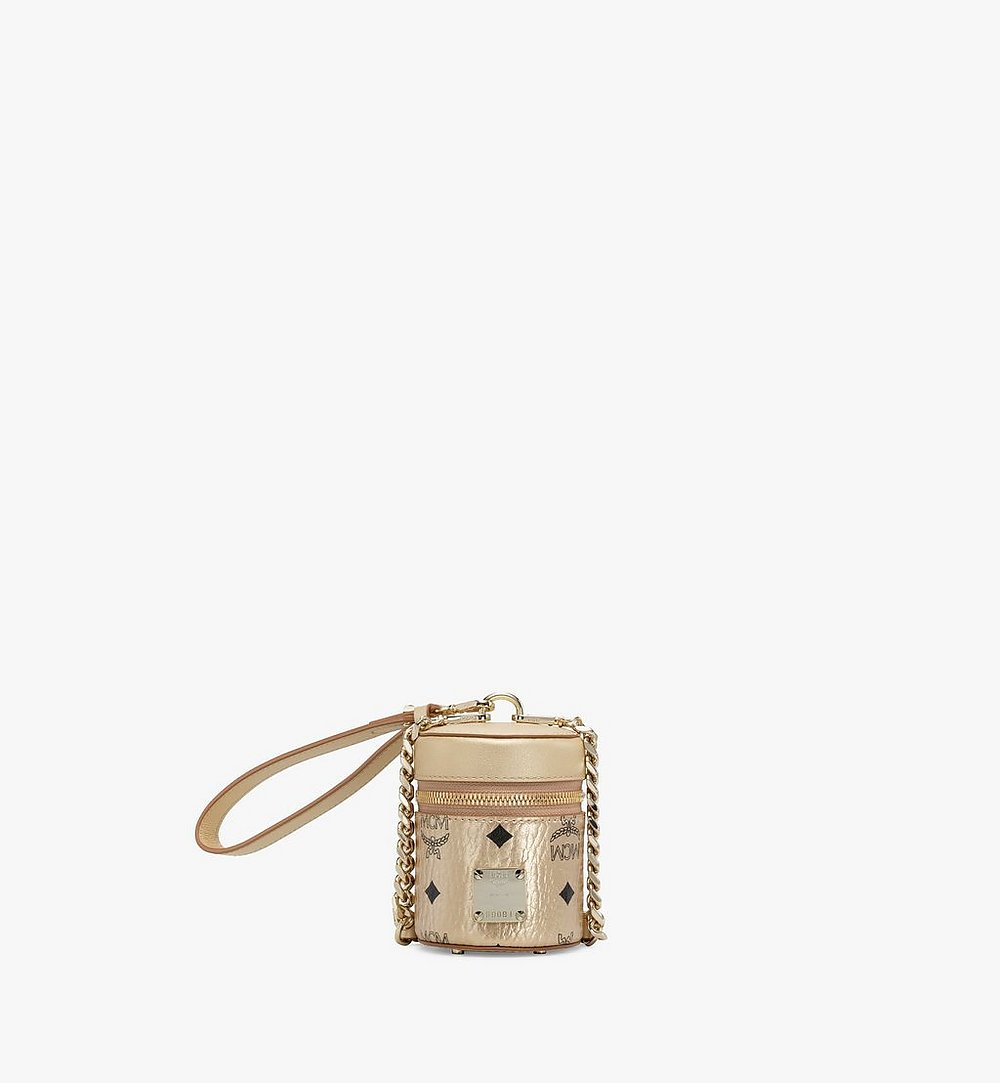 MCM Cylinder Crossbody in Visetos Gold MWRAACG04T1001 Alternate View 1