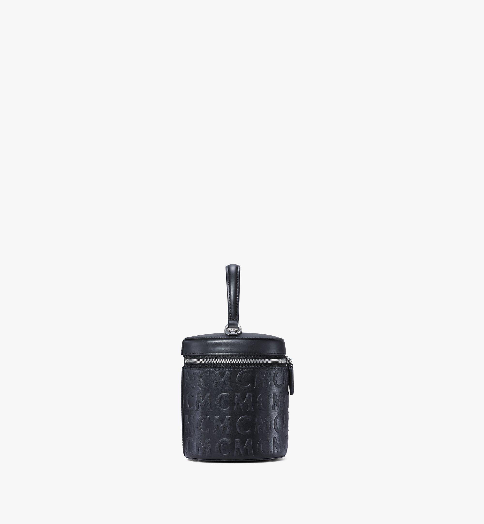 MCM Cylinder Crossbody in MCM Monogram Leather Black MWRAACG05BK001 Alternate View 1