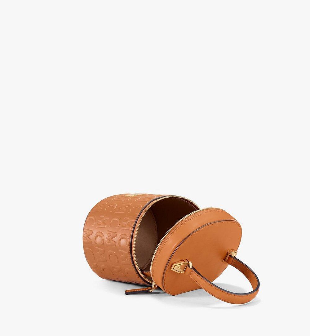 MCM Zylinderförmige Crossbody-Tasche aus Leder mit MCM-Monogramm Multi MWRAACG05CO001 Noch mehr sehen 2