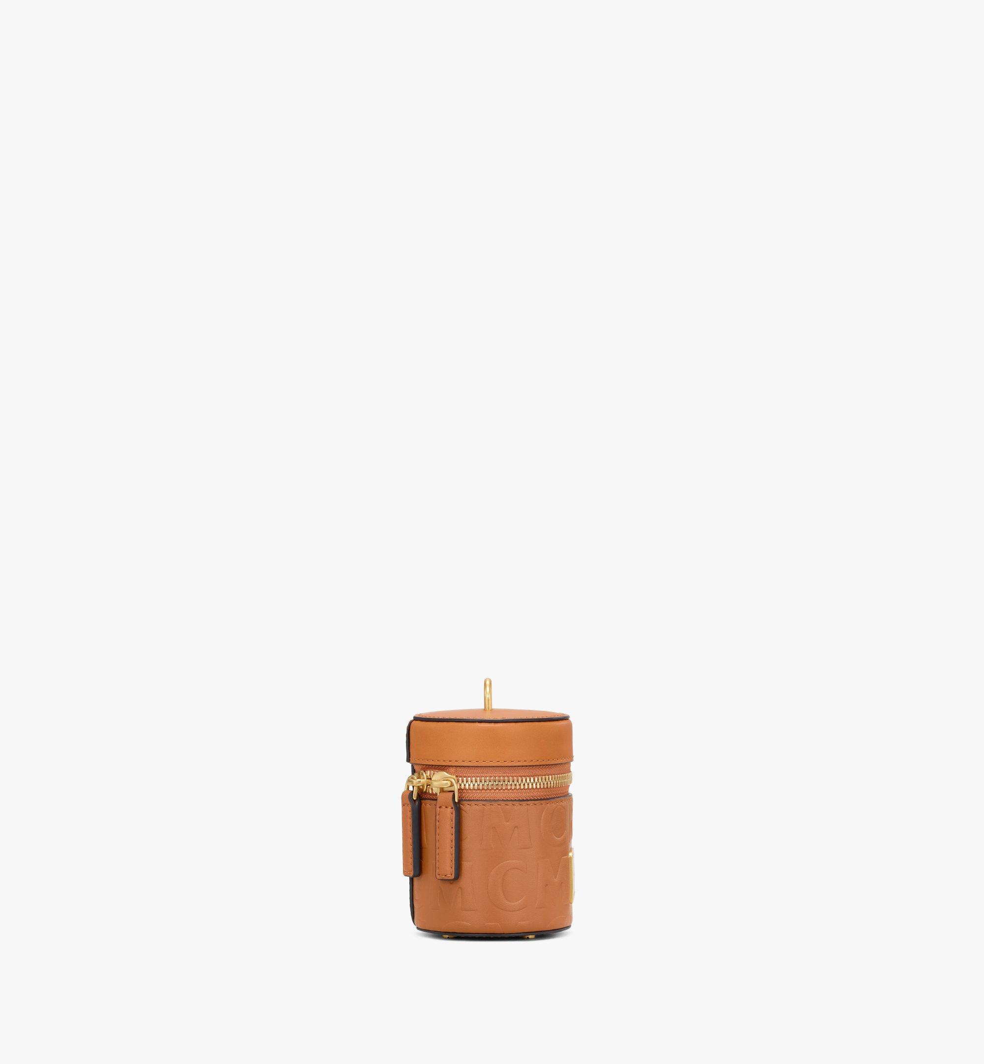 MCM Sac à bandoulière cylindrique en cuir monogrammé MCM Cognac MWRAACG06CO001 Plus de photos 1