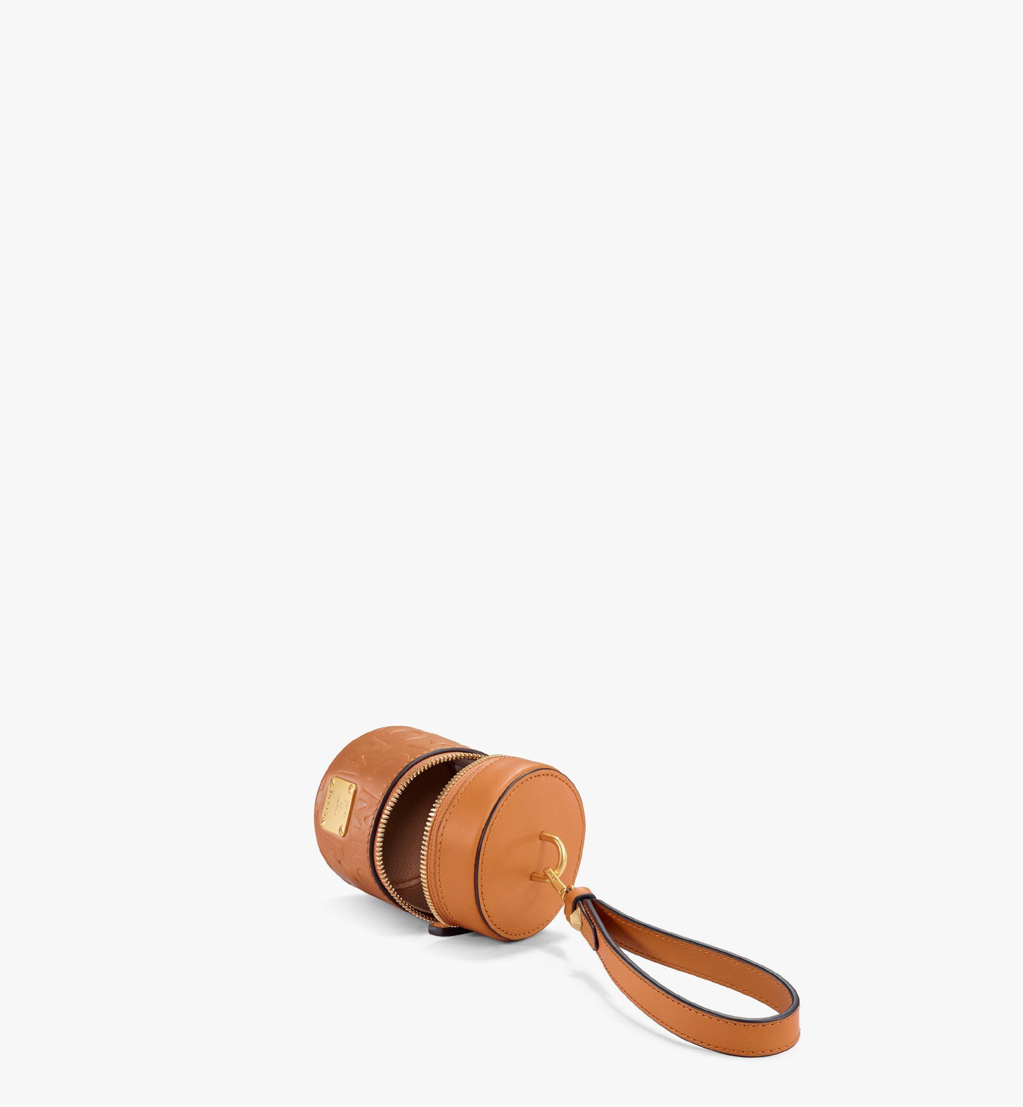 MCM Sac à bandoulière cylindrique en cuir monogrammé MCM Cognac MWRAACG06CO001 Plus de photos 2