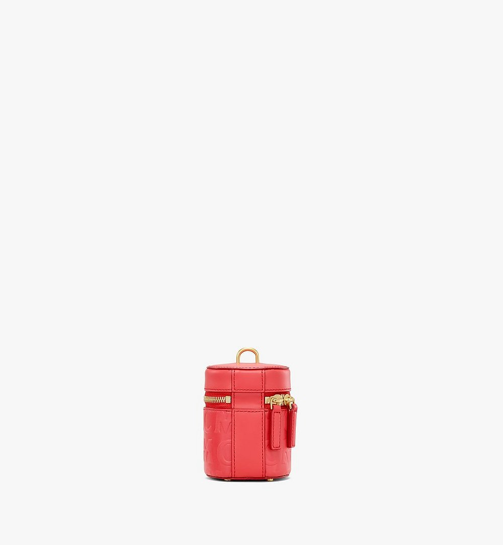 MCM Cylinder Crossbody in MCM Monogram Leather Red MWRAACG06RP001 Alternate View 3