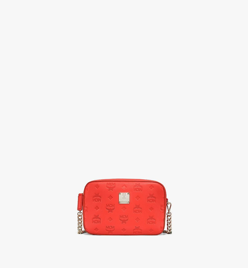 MCM Camera Bag in Monogram Leather Red MWRAAKM01R8001 Alternate View 1