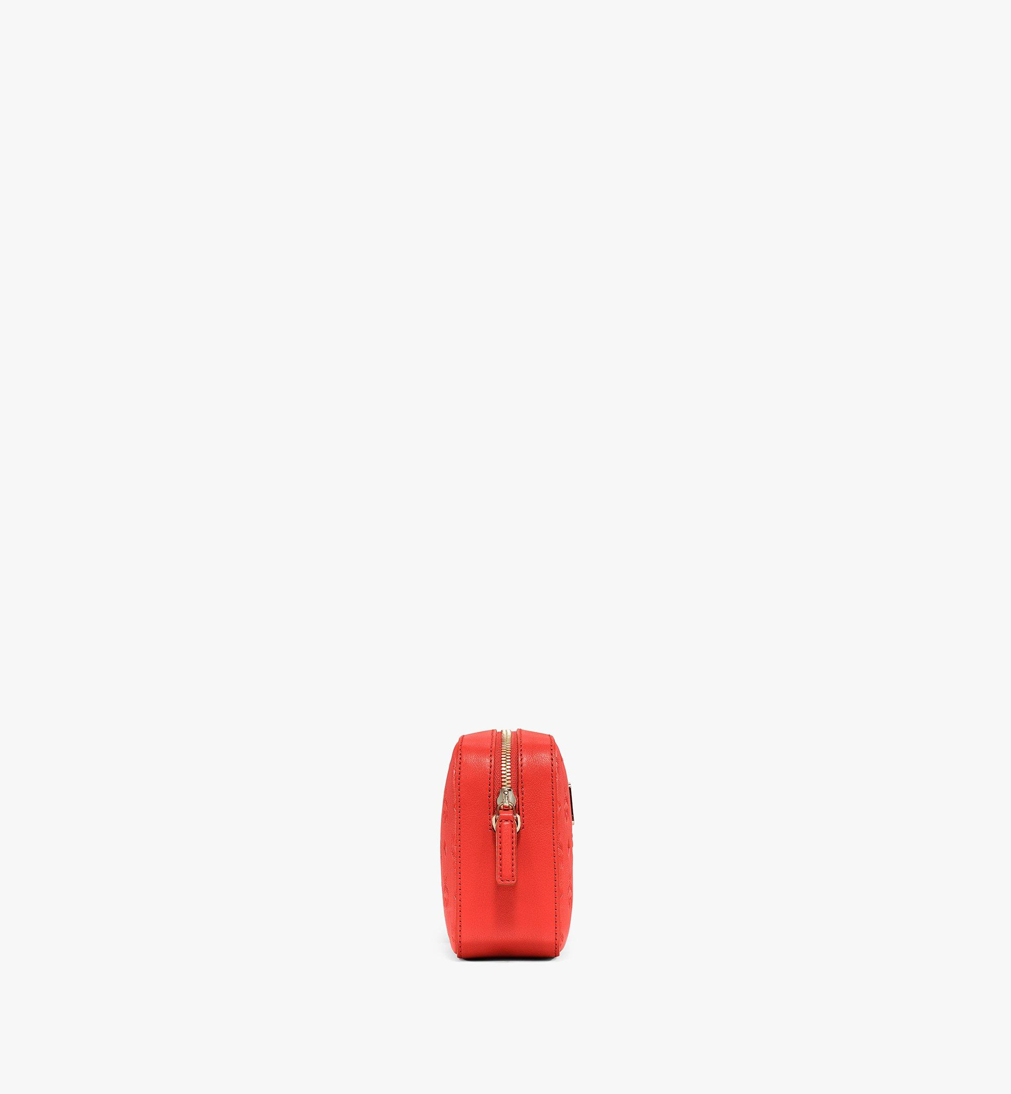 MCM Camera Bag in Monogram Leather Red MWRAAKM01R8001 Alternate View 1