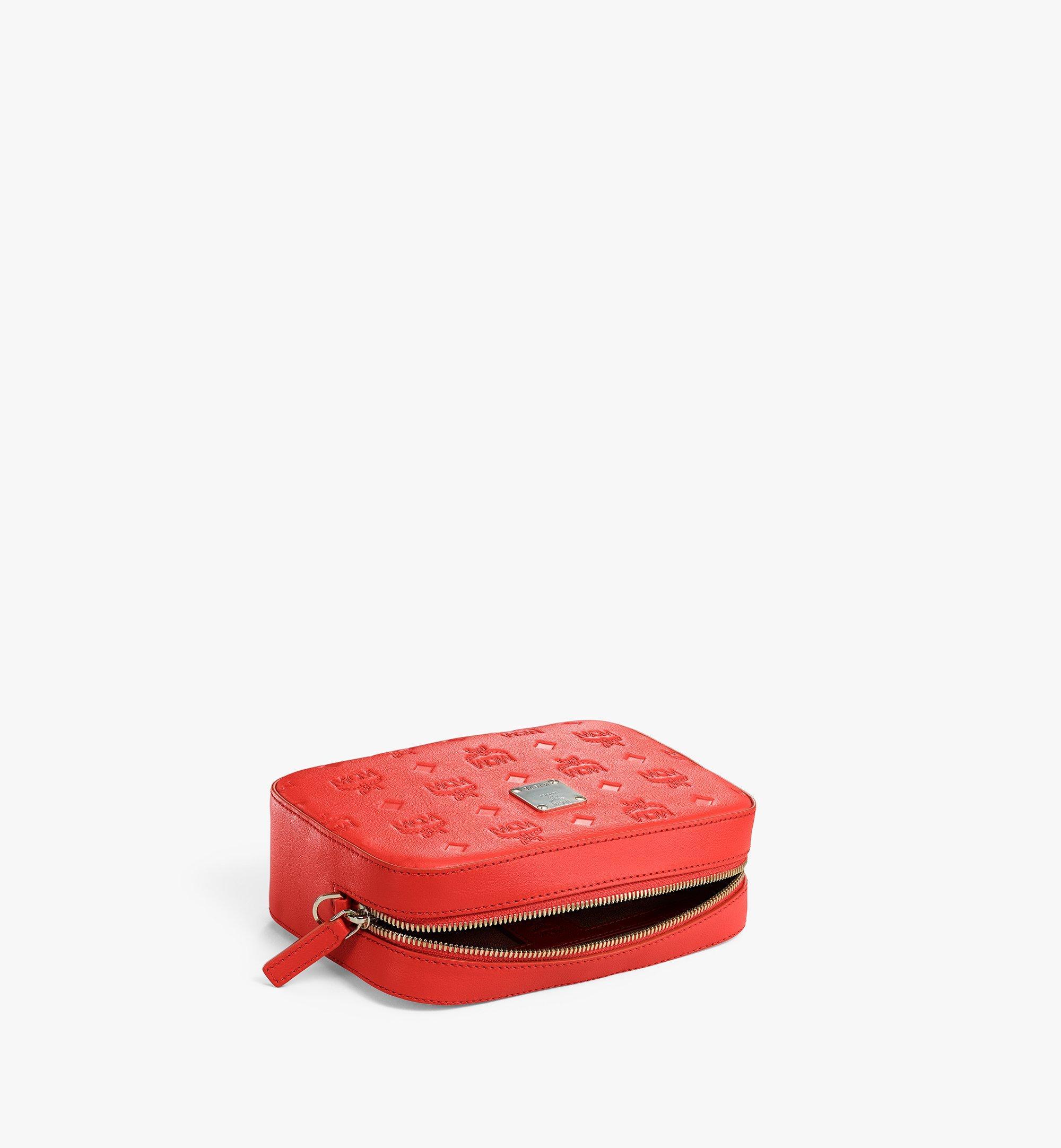MCM Camera Bag in Monogram Leather Red MWRAAKM01R8001 Alternate View 2