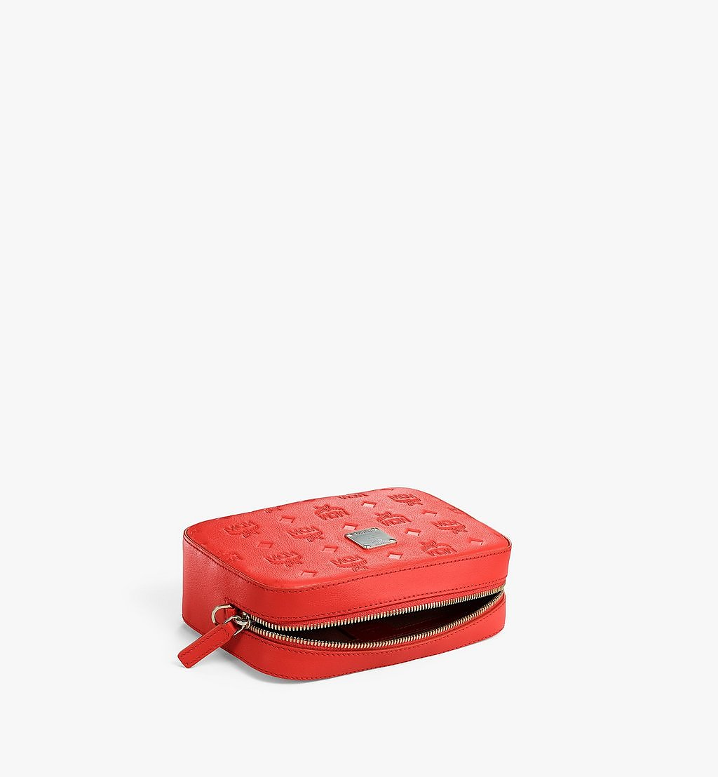 MCM Camera Bag in Monogram Leather Red MWRAAKM01R8001 Alternate View 2
