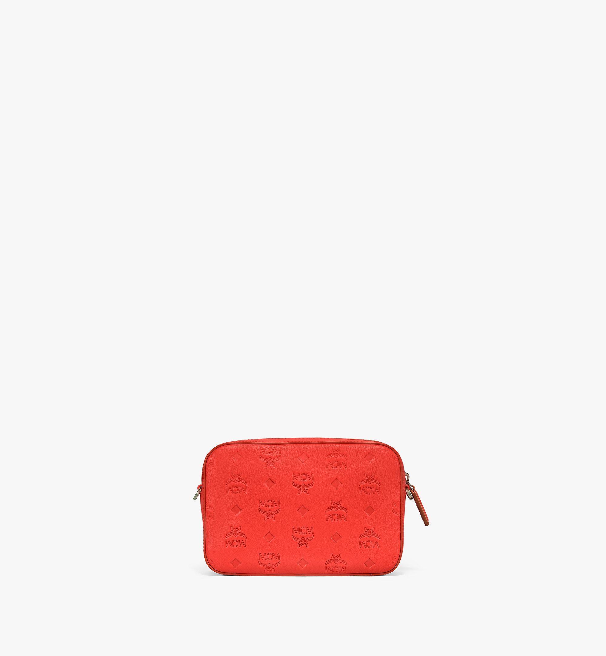 MCM Camera Bag in Monogram Leather Red MWRAAKM01R8001 Alternate View 3