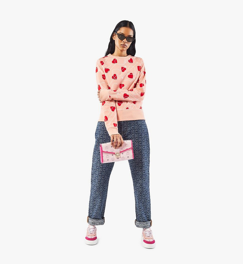 MCM Millie Crossbody in Visetos Leather Block Pink MWRAAME09QH001 Alternate View 3