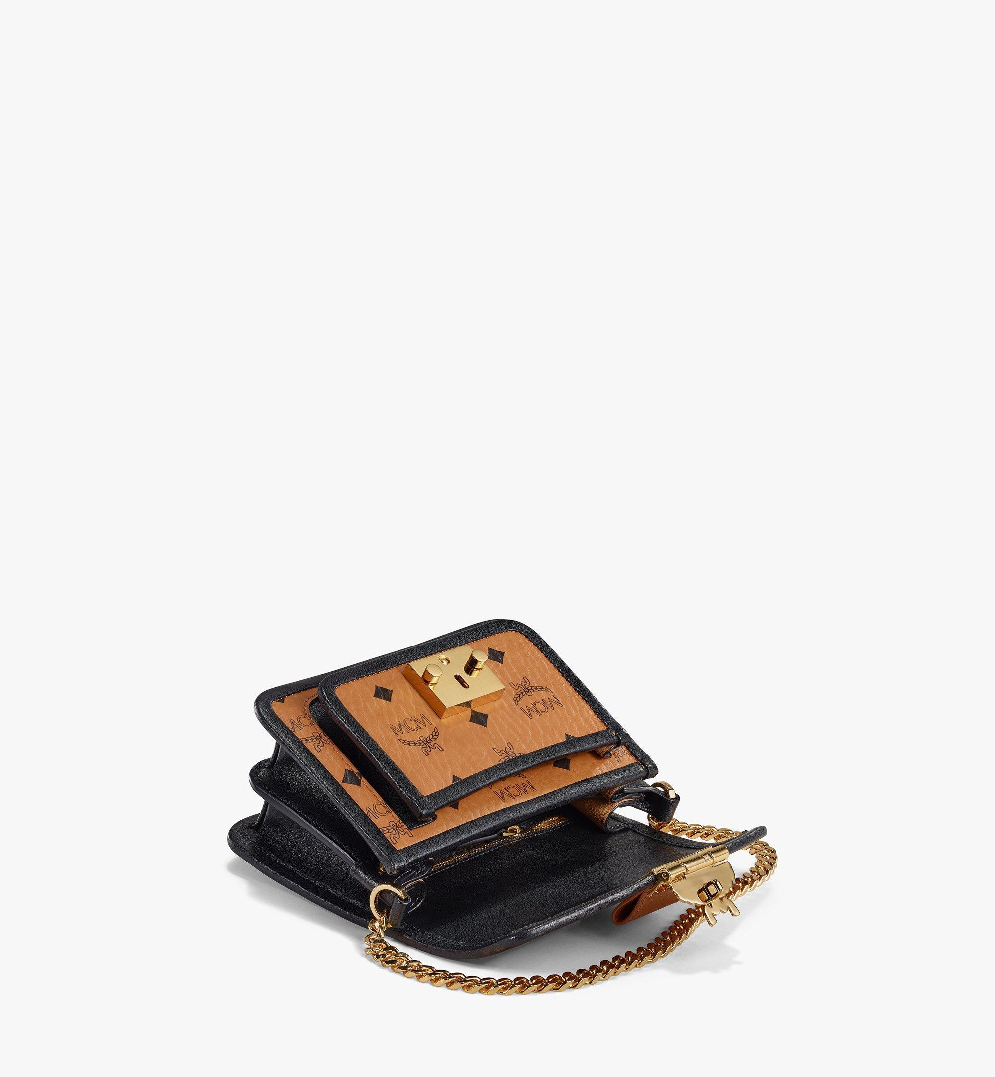 MCM Patricia Crossbody-Tasche in Visetos Leather Block Cognac MWRAAPA07CO001 Alternate View 3