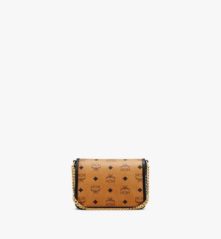 MCM Patricia Crossbody-Tasche in Visetos Leather Block Cognac MWRAAPA07CO001 Alternate View 4