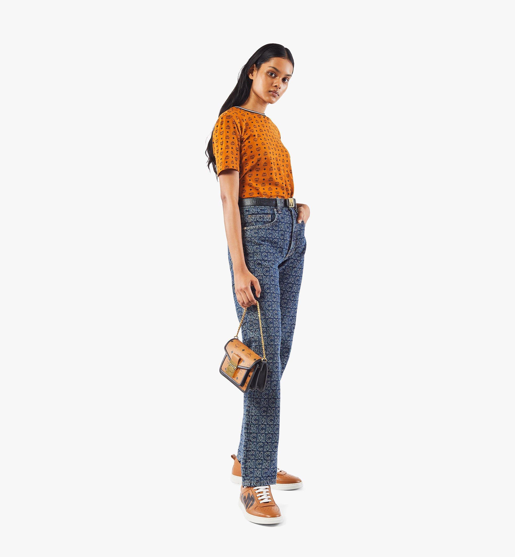 MCM Patricia Crossbody-Tasche in Visetos Leather Block Cognac MWRAAPA07CO001 Alternate View 6