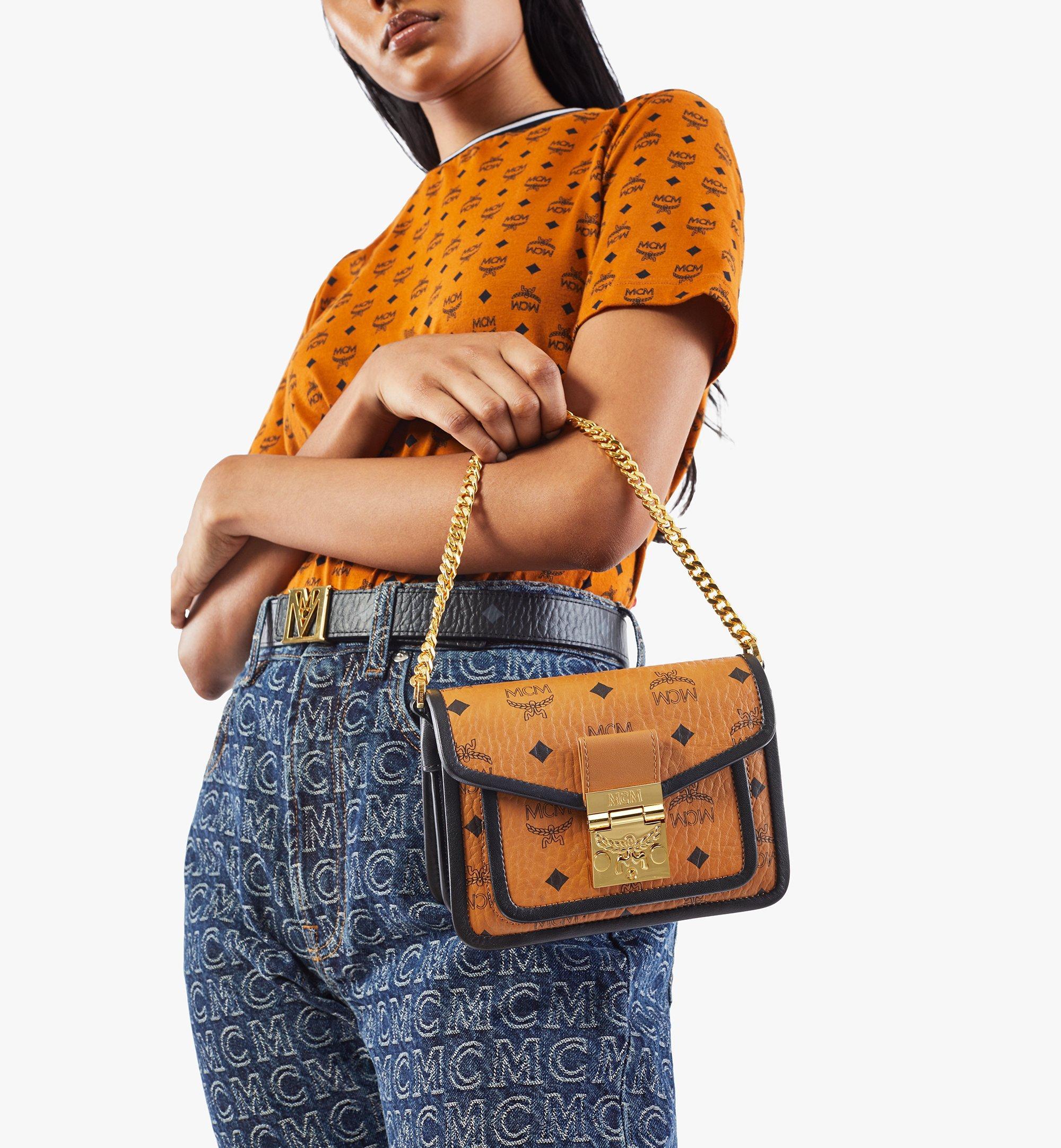 MCM Patricia Crossbody-Tasche in Visetos Leather Block Cognac MWRAAPA07CO001 Alternate View 7
