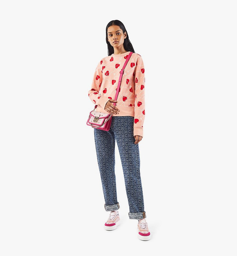 MCM Patricia Crossbody-Tasche in Visetos Leather Block Pink MWRAAPA07QH001 Noch mehr sehen 3