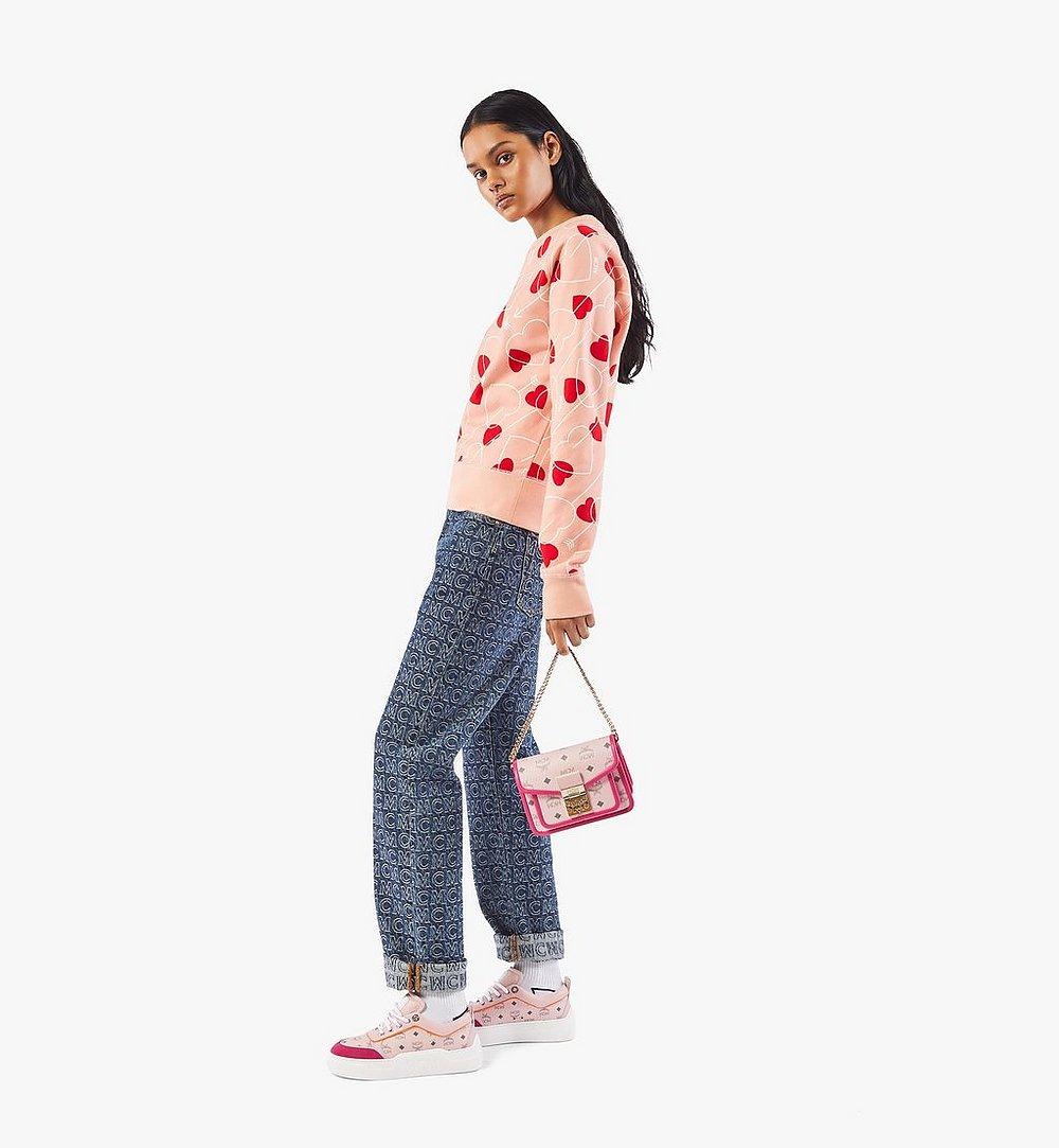 MCM Patricia Crossbody-Tasche in Visetos Leather Block Pink MWRAAPA07QH001 Noch mehr sehen 4
