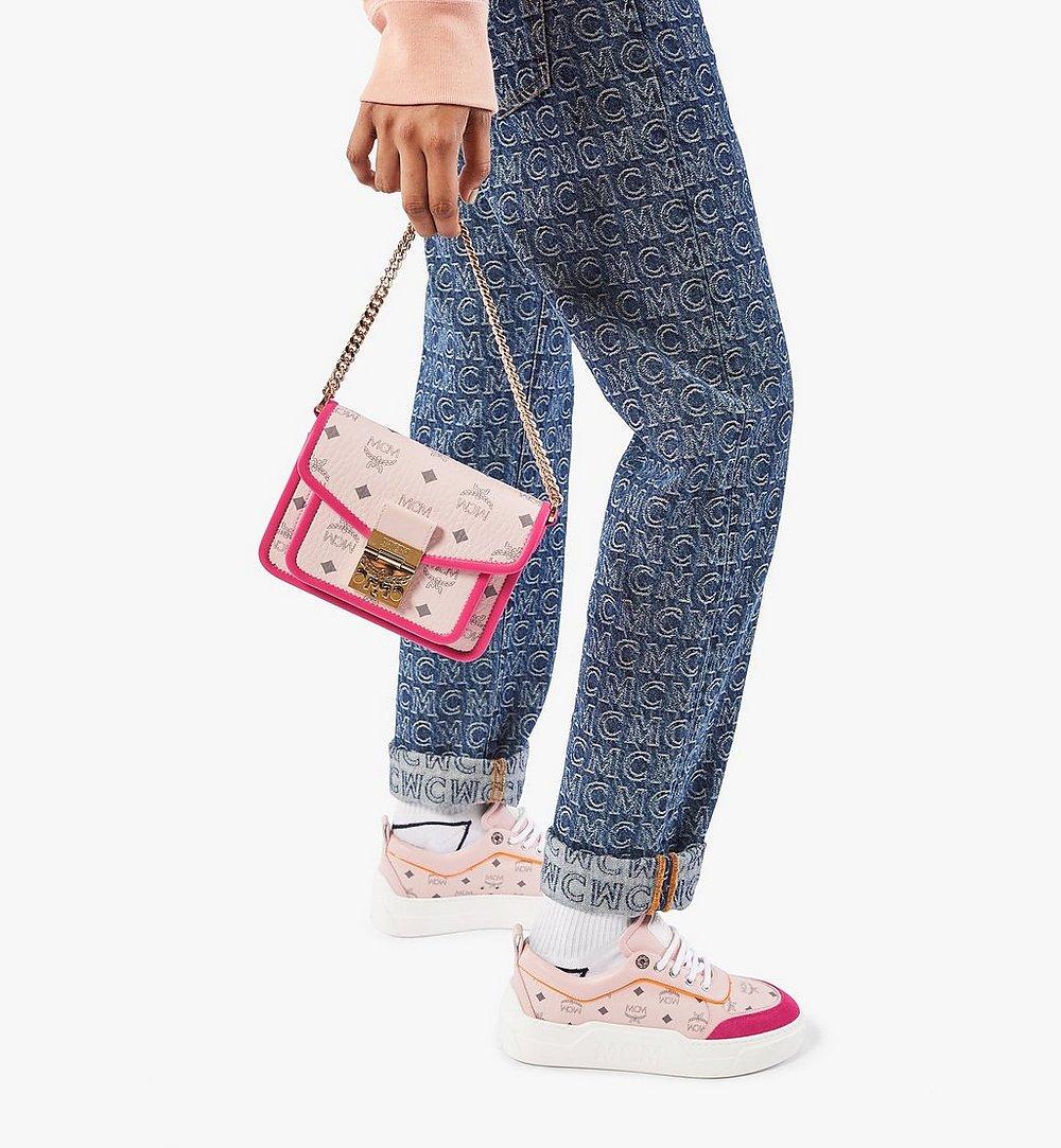 MCM Patricia Crossbody-Tasche in Visetos Leather Block Pink MWRAAPA07QH001 Noch mehr sehen 2
