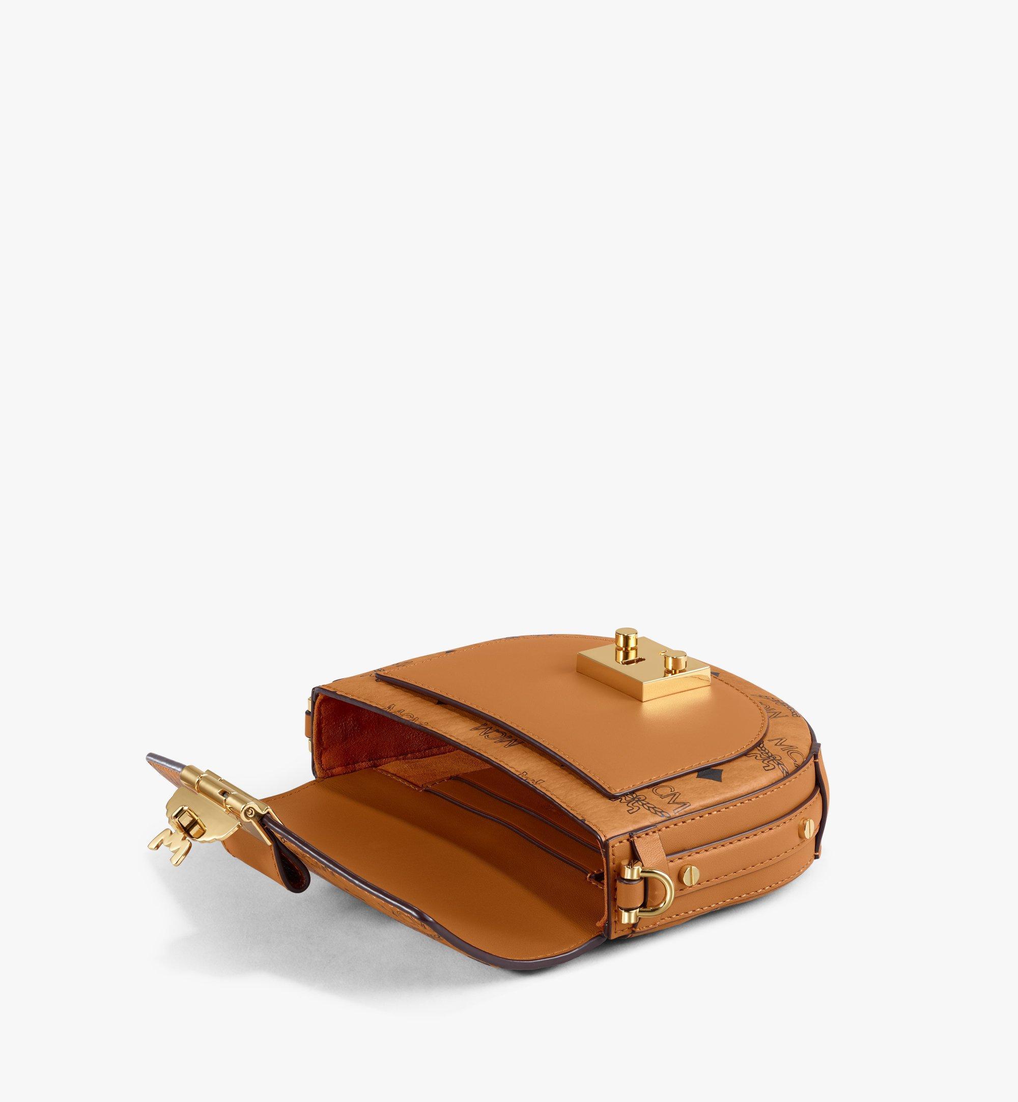 Mini Runde Patricia Crossbody Tasche in Visetos Cognac   MCM® DE