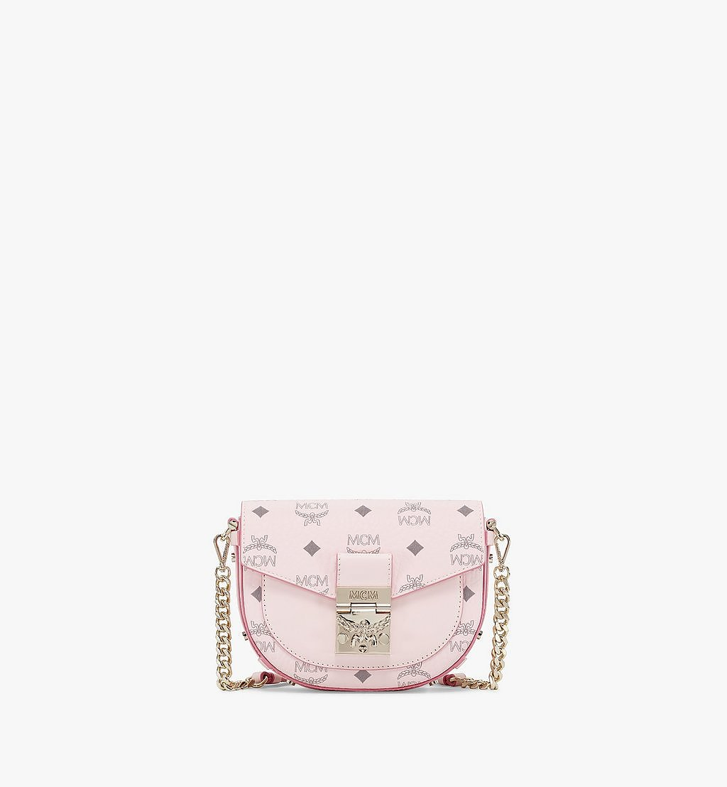 MCM Patricia Crossbody in Visetos Pink MWRAAPA08QH001 Alternate View 1