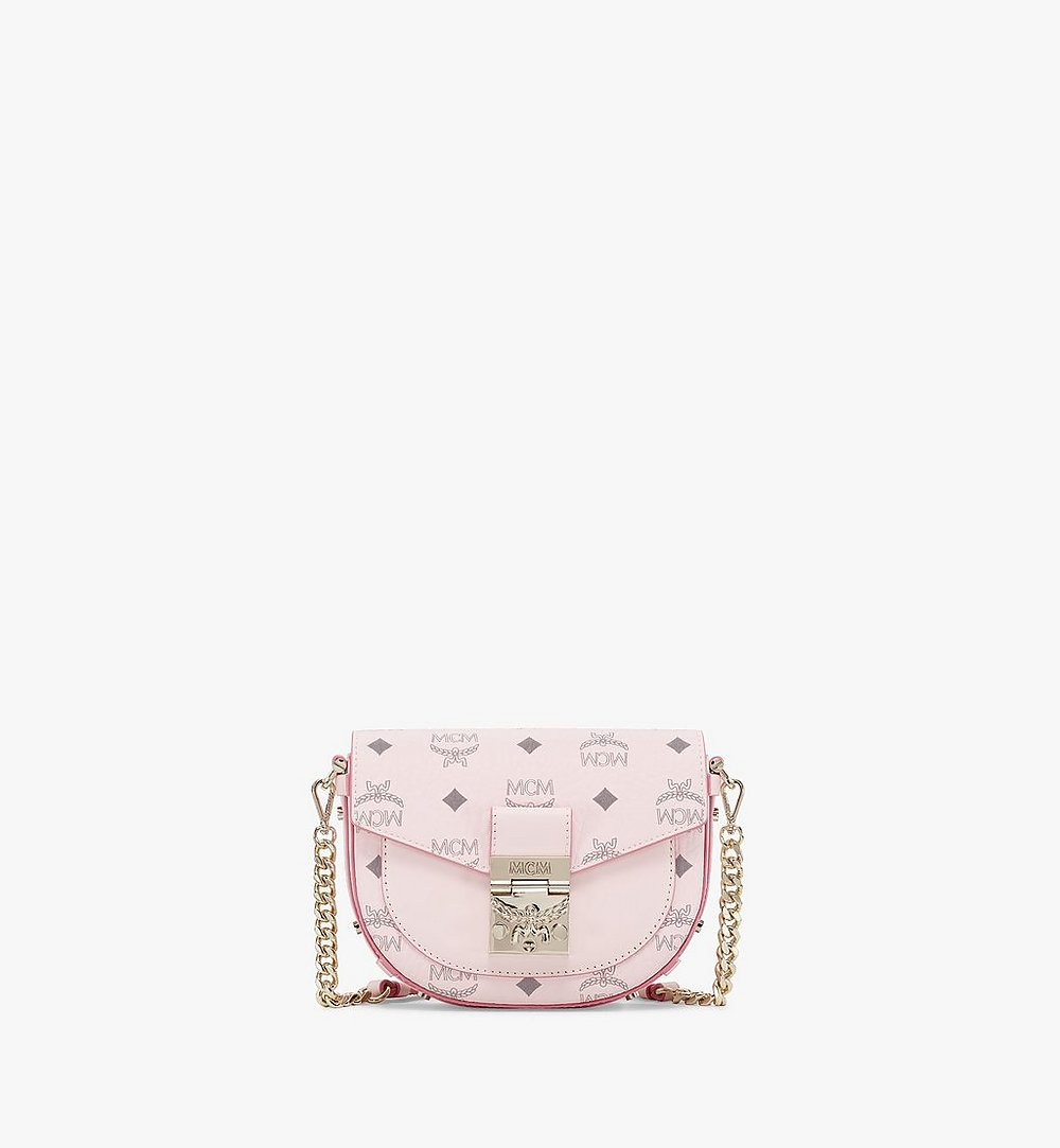 MCM Patricia Round Crossbody in Visetos Pink MWRAAPA08QH001 Alternate View 1