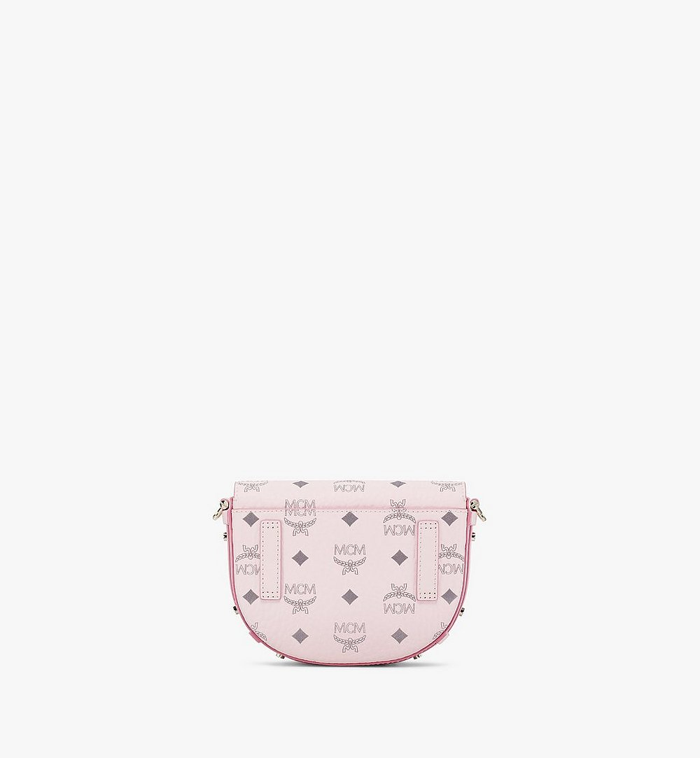 MCM Patricia Round Crossbody in Visetos Pink MWRAAPA08QH001 Alternate View 3