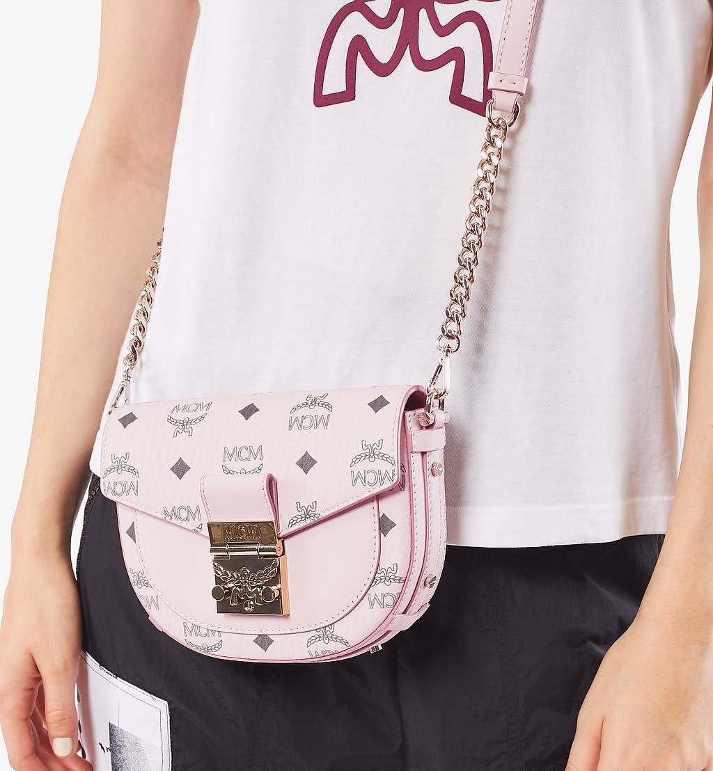 MCM Patricia Crossbody in Visetos Pink MWRAAPA08QH001 Alternate View 2