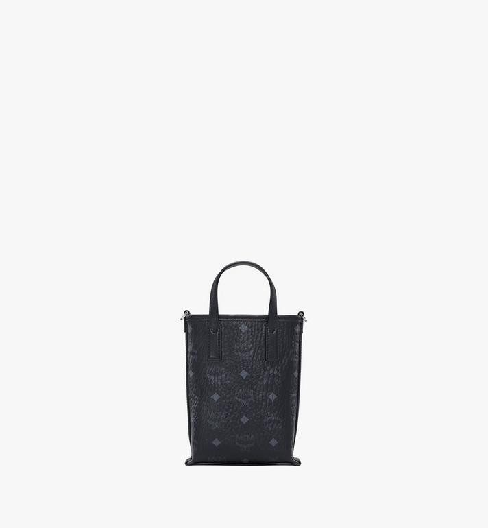 MCM Essential Crossbody Bag in Visetos Black MWRAASE03BK001 Alternate View 4