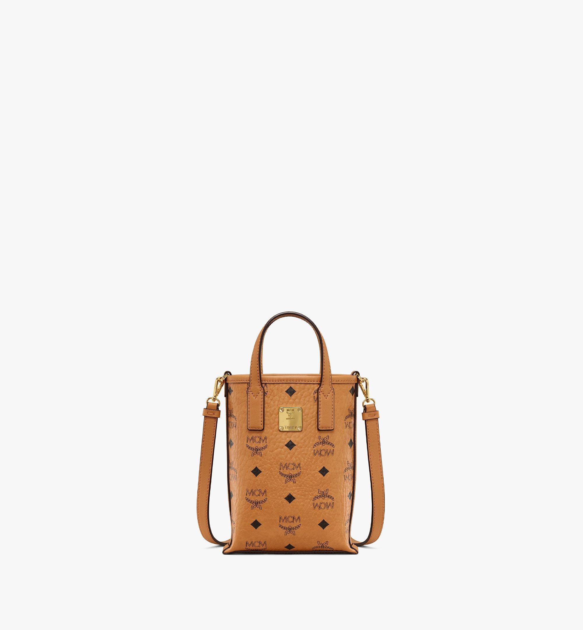 MCM Essential Crossbody Bag in Visetos Cognac MWRAASE03CO001 Alternate View 1