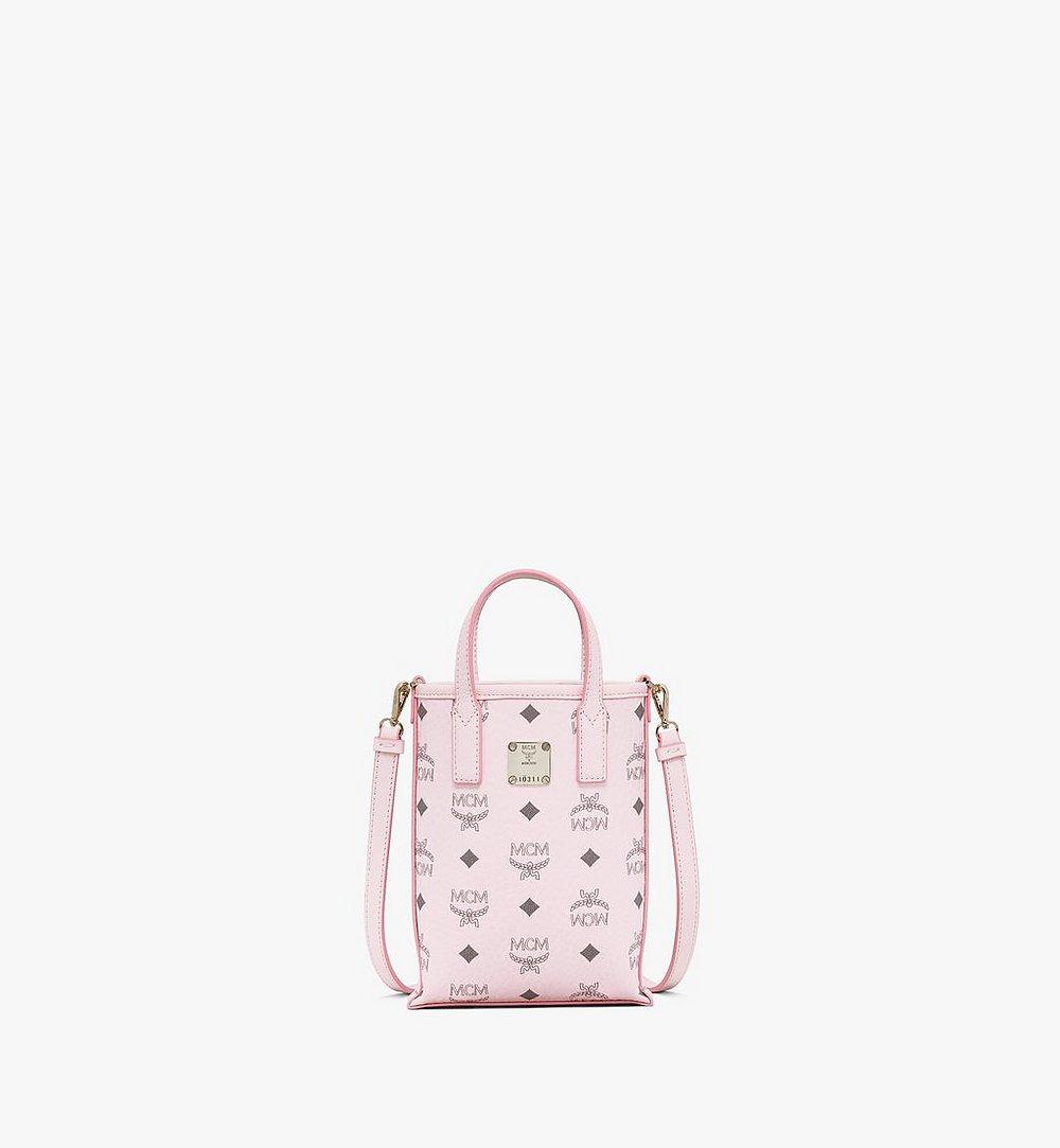 MCM Essential Crossbody Bag in Visetos Pink MWRAASE03QH001 Alternate View 1