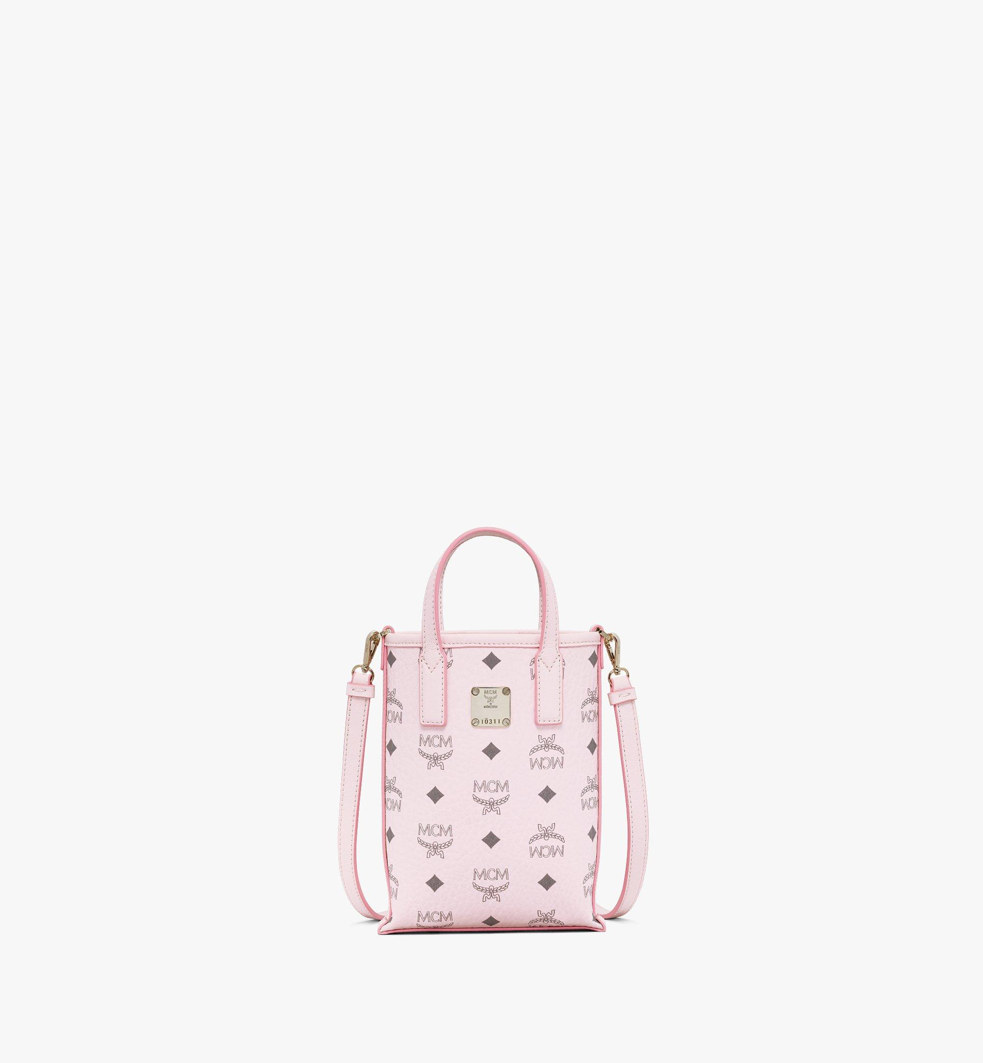 Mini Essential Crossbody Tasche in Visetos Powder Pink | MCM® DE