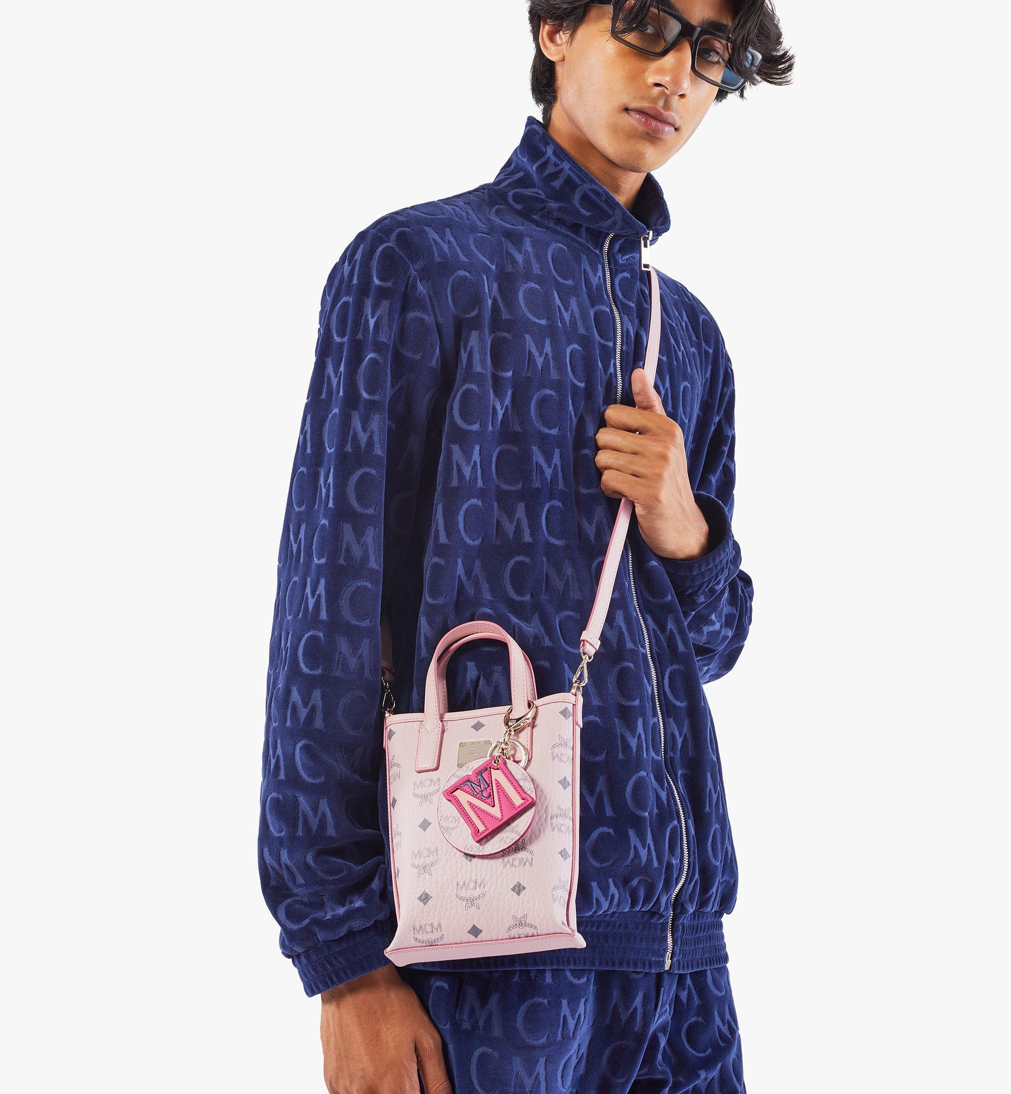 MCM Essential Crossbody Bag in Visetos Pink MWRAASE03QH001 Alternate View 4