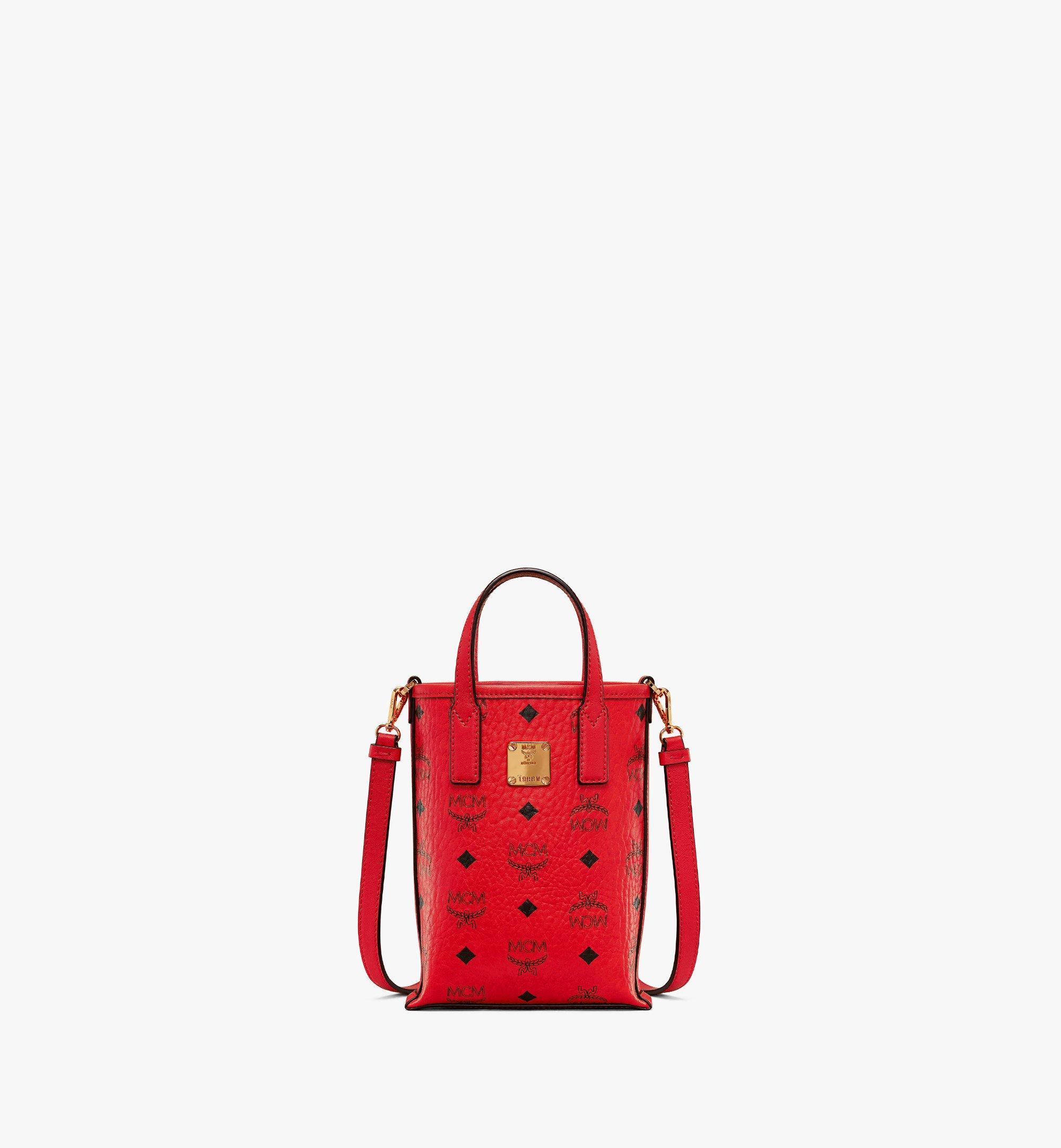 MCM Essential Crossbody Bag in Visetos Red MWRAASE05RU001 Alternate View 1