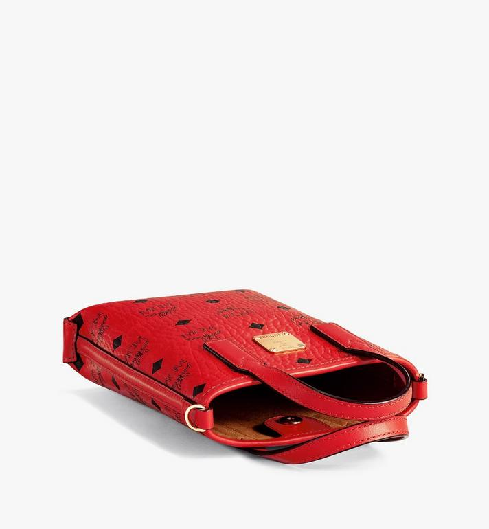 MCM Essential Crossbody Bag in Visetos Red MWRAASE05RU001 Alternate View 3