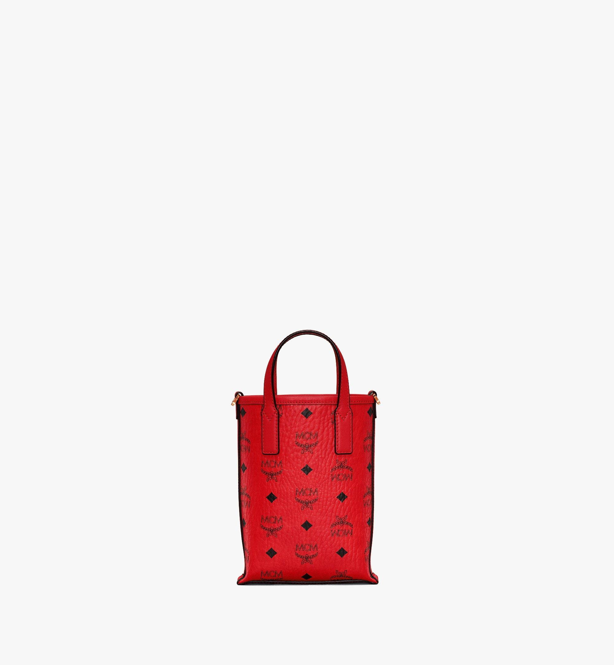 MCM Essential Crossbody Bag in Visetos Red MWRAASE05RU001 Alternate View 4