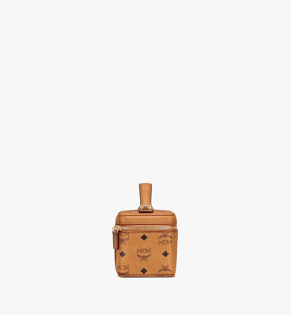 MCM Rockstar Vanity Case in Visetos Original Cognac MWRAAVI01CO001 Alternate View 1