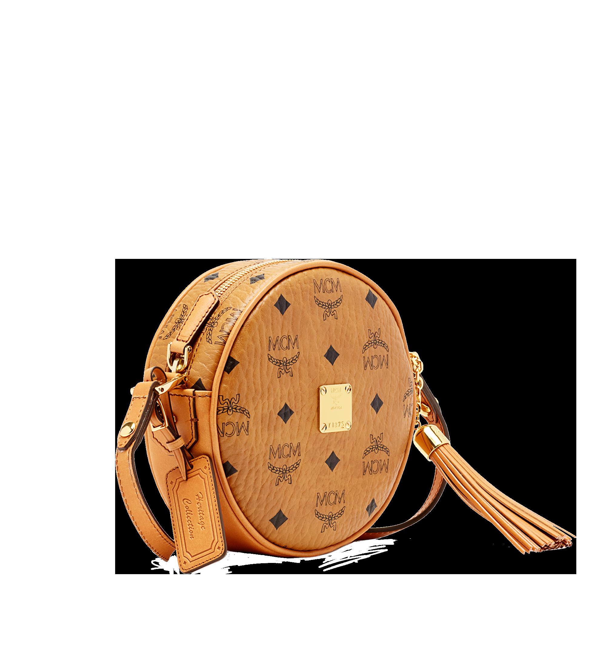 MCM Heritage Tamburin-Crossbody-Tasche in Visetos Cognac MWRAAVI06CO001 Noch mehr sehen 1
