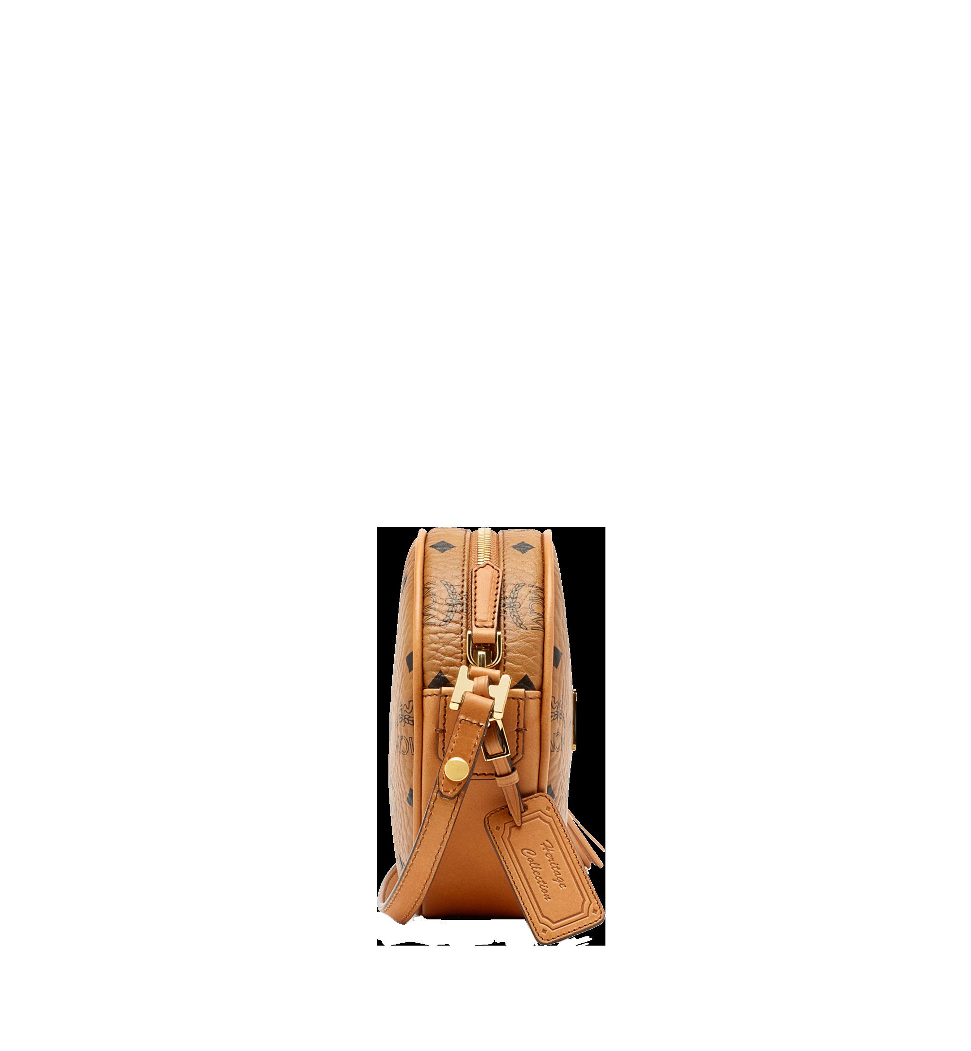 MCM Heritage Tamburin-Crossbody-Tasche in Visetos Cognac MWRAAVI06CO001 Noch mehr sehen 2