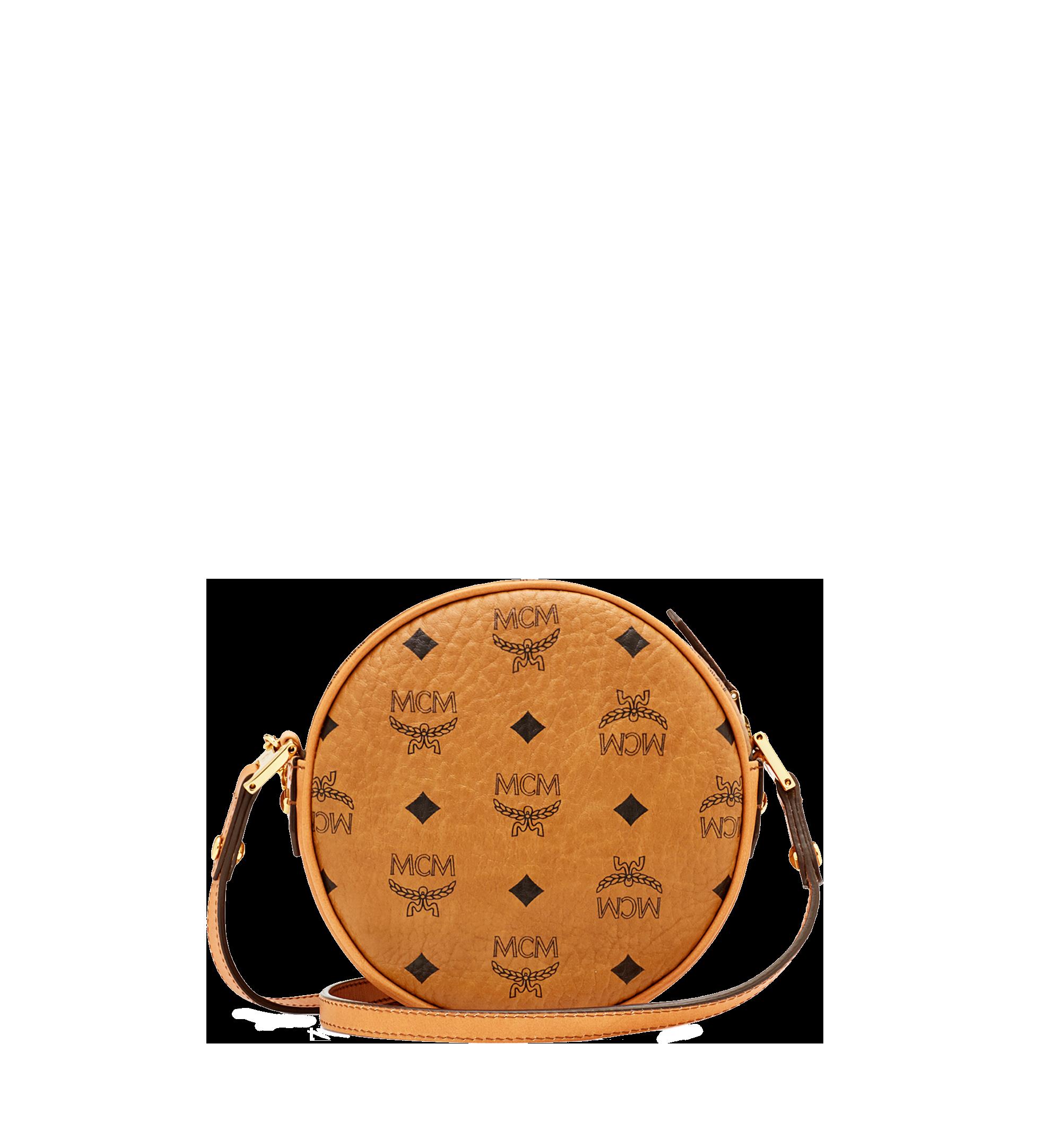 MCM Heritage Tamburin-Crossbody-Tasche in Visetos Cognac MWRAAVI06CO001 Noch mehr sehen 3
