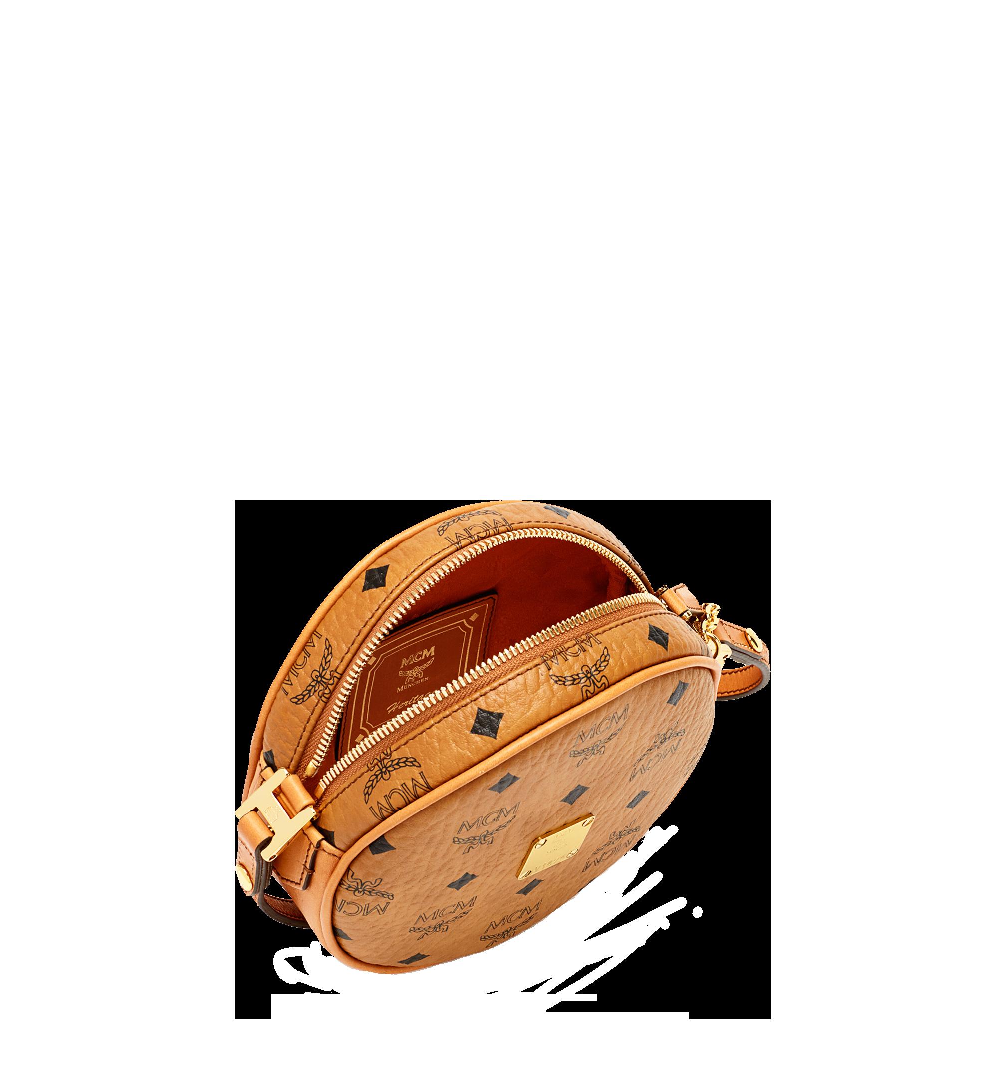 MCM Heritage Tamburin-Crossbody-Tasche in Visetos Cognac MWRAAVI06CO001 Noch mehr sehen 4