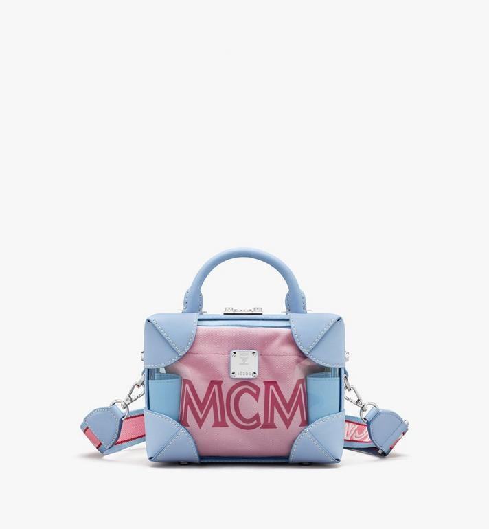 MCM E/W Soft Berlin Crossbody in Hologram Blue MWRASBF03H2001 Alternate View 1