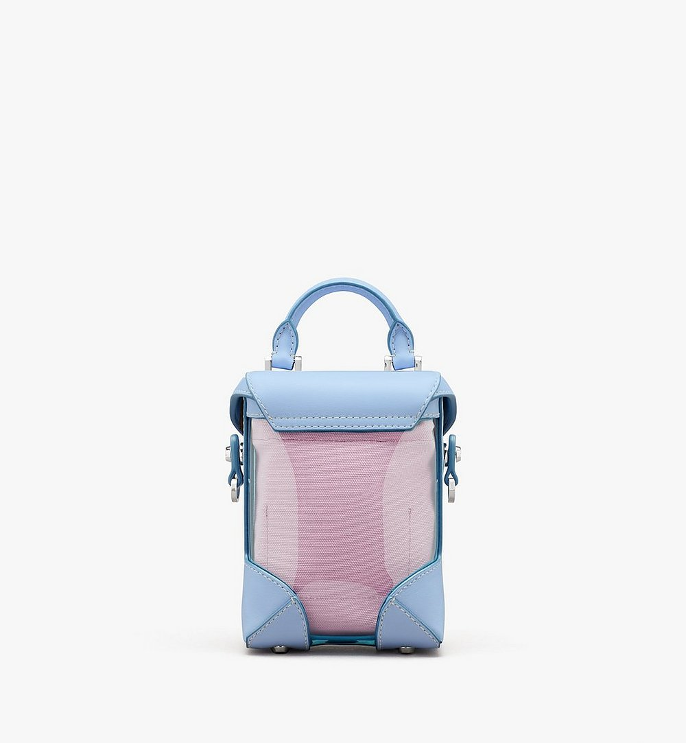 MCM N/S Soft Berlin Crossbody in Hologram Blue MWRASBF04H2001 Alternate View 1