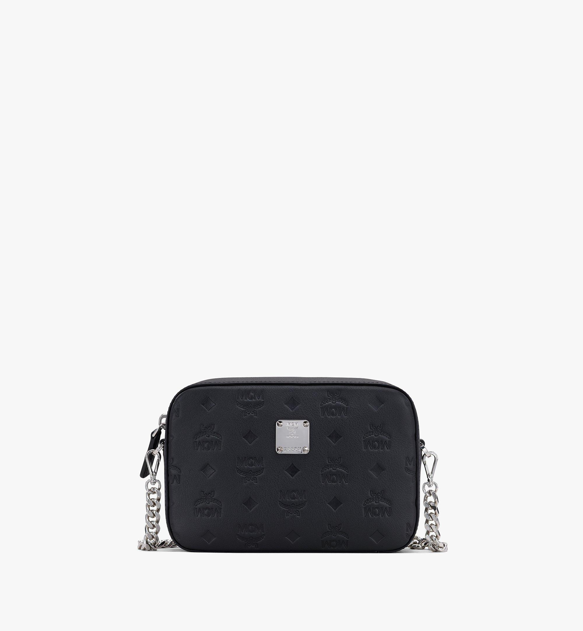 MCM Camera Bag in Monogram Leather Black MWRASKM01BK001 Alternate View 1