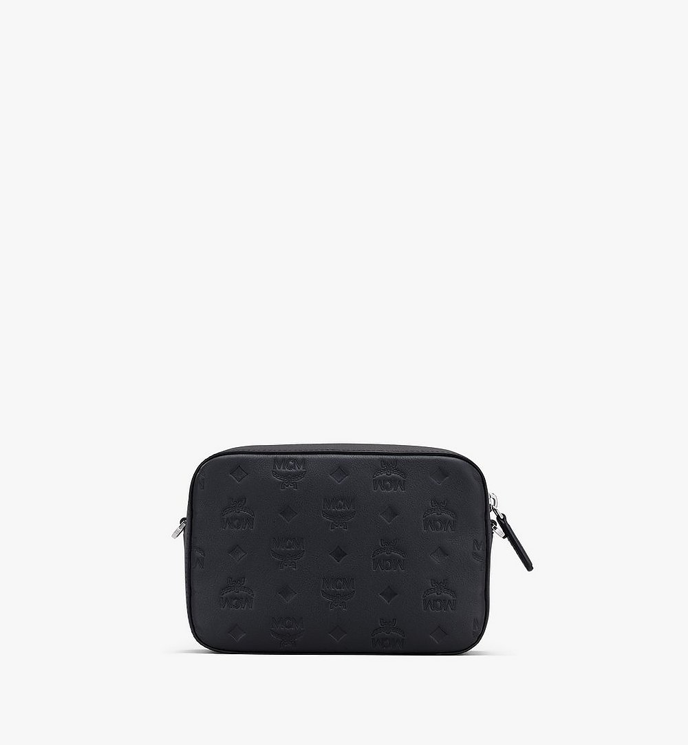 MCM Camera Bag in Monogram Leather Black MWRASKM01BK001 Alternate View 2