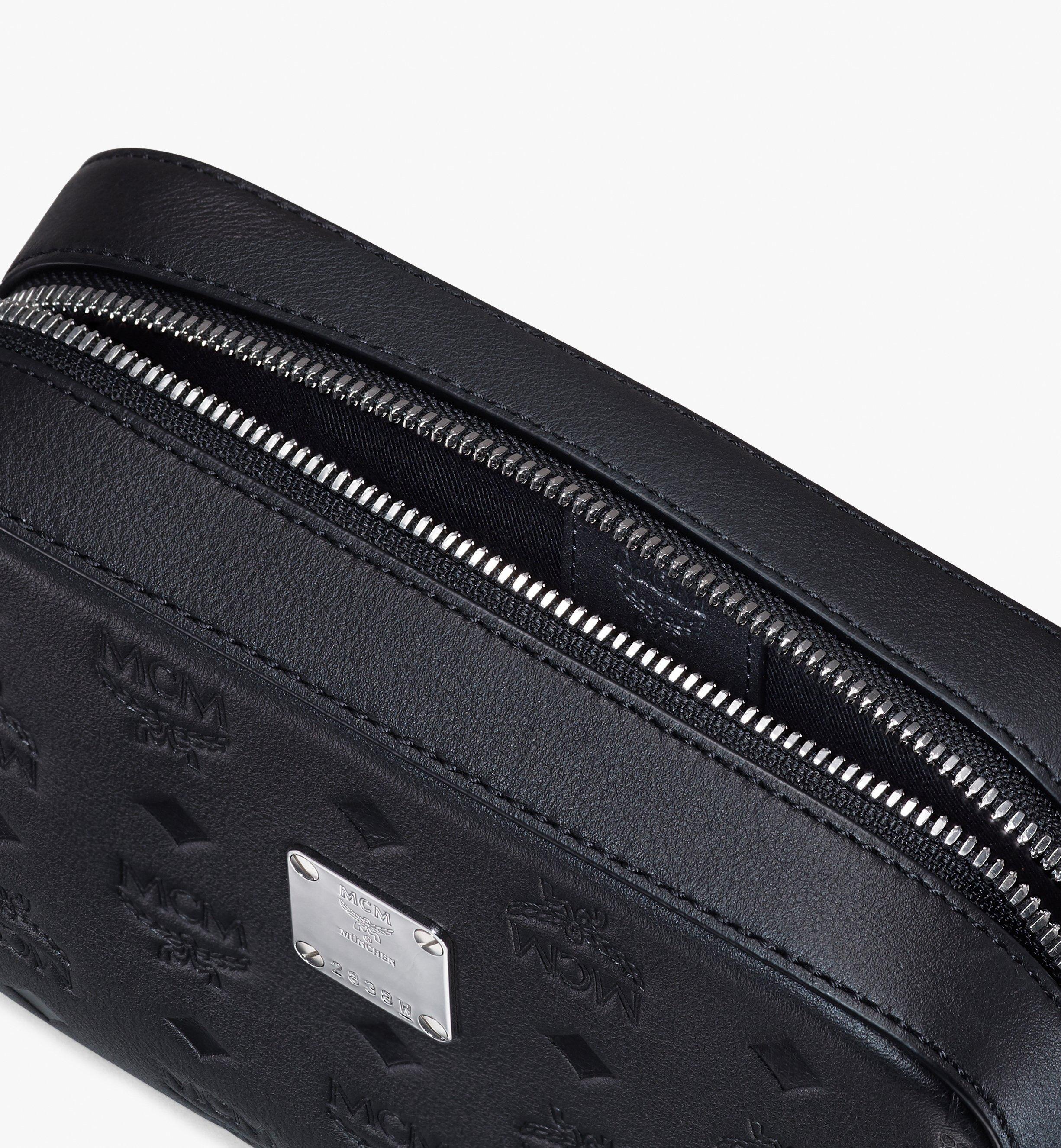 MCM Camera Bag in Monogram Leather Black MWRASKM01BK001 Alternate View 4
