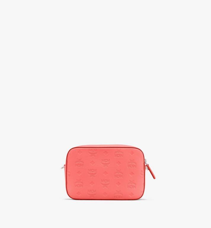 MCM Camera Bag in Monogram Leather Red MWRASKM01O3001 Alternate View 3