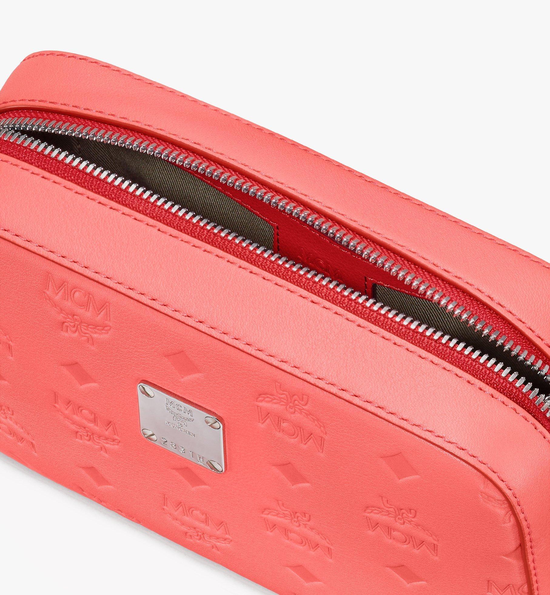 MCM Camera Bag in Monogram Leather Red MWRASKM01O3001 Alternate View 4