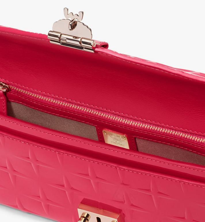 MCM Millie Crossbody-Tasche aus Lackleder mit Rautenmuster Pink MWRASME01QE001 Alternate View 3